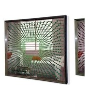 DesignArt Handmade 3D Explosion Mirror Artwork; Green