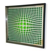 DesignArt Handmade 3D Sphere Mirror Artwork; Green