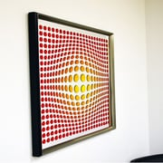 DesignArt Handmade 3D Sphere Mirror Artwork; Orange