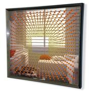 DesignArt Handmade 3D Explosion Mirror Artwork; Orange