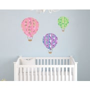 Wall Decal Source Patterned Hot Air Balloon Nursery Wall Decal; Scheme C