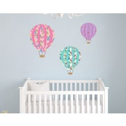 Wall Decal Source Patterned Hot Air Balloon Nursery Wall Decal; Scheme A