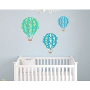 Wall Decal Source Patterned Hot Air Balloon Nursery Wall Decal; Scheme B
