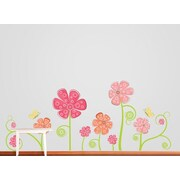 Wall Decal Source Flower and Butterfly Wall Decal; Scheme A