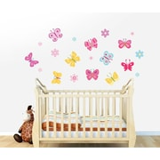 Wall Decal Source Butterfly and Flower Wall Decal; Scheme A