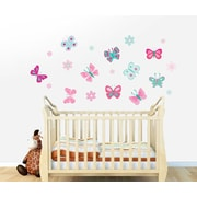 Wall Decal Source Butterfly and Flower Wall Decal; Scheme B