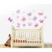 Wall Decal Source Butterfly and Flower Wall Decal; Scheme C