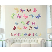 Wall Decal Source Butterfly Nursery Wall Decal; Scheme A