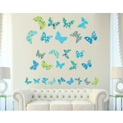 Wall Decal Source Butterfly Nursery Wall Decal; Scheme C
