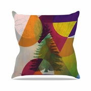 KESS InHouse Hidden Face by Alyzen Moonshadow Throw Pillow; 16'' x 16''