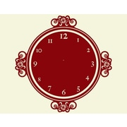 Style and Apply Decor Moments Wall Clock Wall Decal; Silver