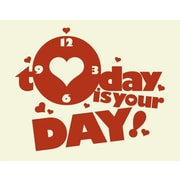 Style and Apply Today is your Day Wall Clock Wall Decal; Black