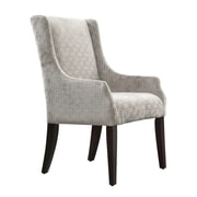 Kingstown Home Mandala Grey Link Print Fabric Sloped Arm Accent Chair