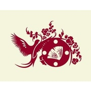 Style and Apply Asian Wall Clock Wall Decal; Black