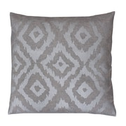 Thro by Marlo Lorenz Munoz Foil Printed Throw Pillow; Silver