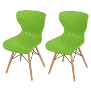 New Pacific Direct Camryn Side Chair (Set of 2); Green
