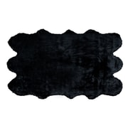 Glamour Home Decor Black Area Rug; 5' x 8'