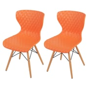 New Pacific Direct Camryn Side Chair (Set of 2); Orange