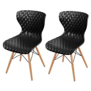 New Pacific Direct Camryn Side Chair (Set of 2); Black