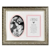 The James Lawrence Company 'A Baby' Framed Art Picture Frame; Pink