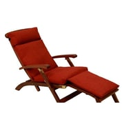 Blazing Needles Soft Home Furnishings Outdoor Chaise Lounge Cushion; Cinnamon