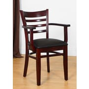 Benkel Seating Arm Chair; Dark Mahogany