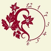Style and Apply Branch Wall Clock Wall Decal; Black