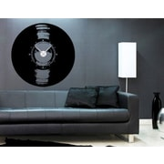 Style and Apply Vinyl Love Wall Clock Wall Decal; Dark Gray