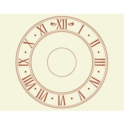 Style and Apply Roman Time Wall Clock Wall Decal; Dark Red