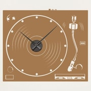 Style and Apply Turnable Wall Clock Wall Decal; Gold