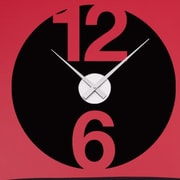 Style and Apply 12 And 6 Wall Clock Wall Decal; Gold
