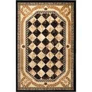 Rug and Decor Inc. Summit Black Area Rug; 7'4'' x 10'6''