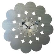 Mid Century Decor 20'' Circle Clock; Silver