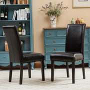 Roundhill Furniture Donatello Parsons Chair (Set of 2); Black