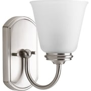 Progress Lighting Keats 1 Light Vanity Light; Brushed Nickel