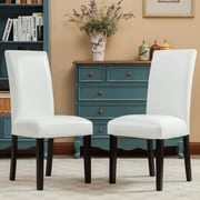 Roundhill Furniture Donatello Parsons Chair (Set of 2); White