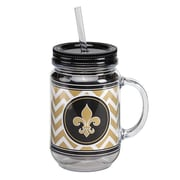 Occasionally Made Fleur De Lis 20 Oz. Mason Jar Cup (Set of 2)