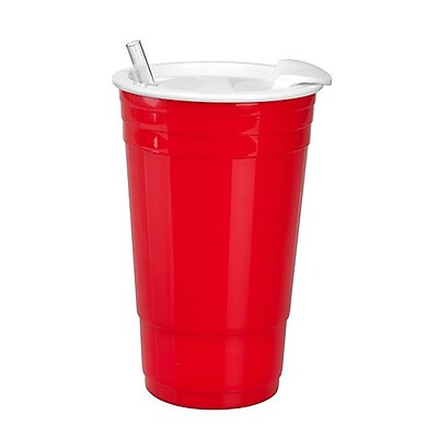 Occasionally Made Game Day Gear Big Gulp 30 oz. Cup (Set of 2); Red / White WYF078278626387