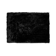 Glamour Home Decor Black Area Rug; 5' x 7'