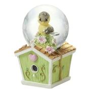 Precious Moments Mini Snow Globe, Goldfinch Birdhouse