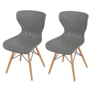 New Pacific Direct Camryn Side Chair (Set of 2); Gray