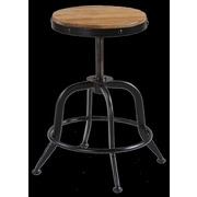 Reual James Palisades Adjustable Height Swivel Bar Stool
