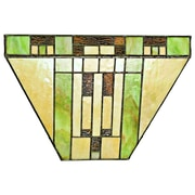 River of Goods Cactus Mission Style Stained Glass LED Wireless Wall Sconce