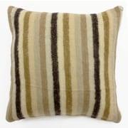 Sabira Mohair Blend Striped Accent Pillow; Ivory/Beige/Brown