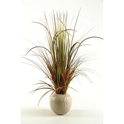D & W Silks 30'' Mixed Grass in Ceramic Decorative Vase