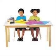 Jonti-Craft 10'' H x 48'' W Rectangular Classroom Table; White