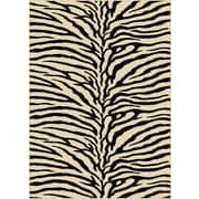 TayseRugs Elegance Beige Animal Oval Area Rug; 9'3'''' x 12'6''''