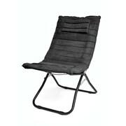 Urban Shop Memory Foam Lounge Chair; Black