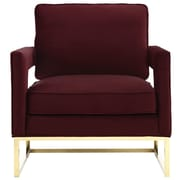 TOV Avery Velvet Arm Chair; Maroon