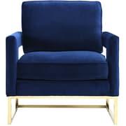 TOV Avery Velvet Arm Chair; Navy